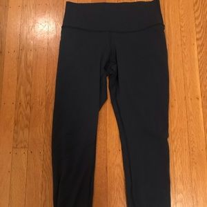 Lululemon High Times Navy High Rise 7/8 Leggings